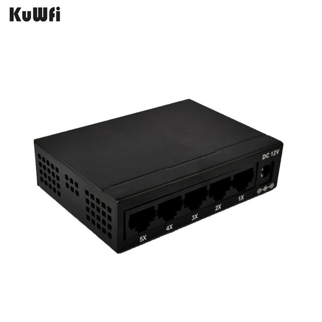 CE ROHS Compli 5 ポートスイッチ 10/100 100m ファストイーサネットスイッチカメラ Vlan サポート RJ45 ポートサポートする MDI/MDIX