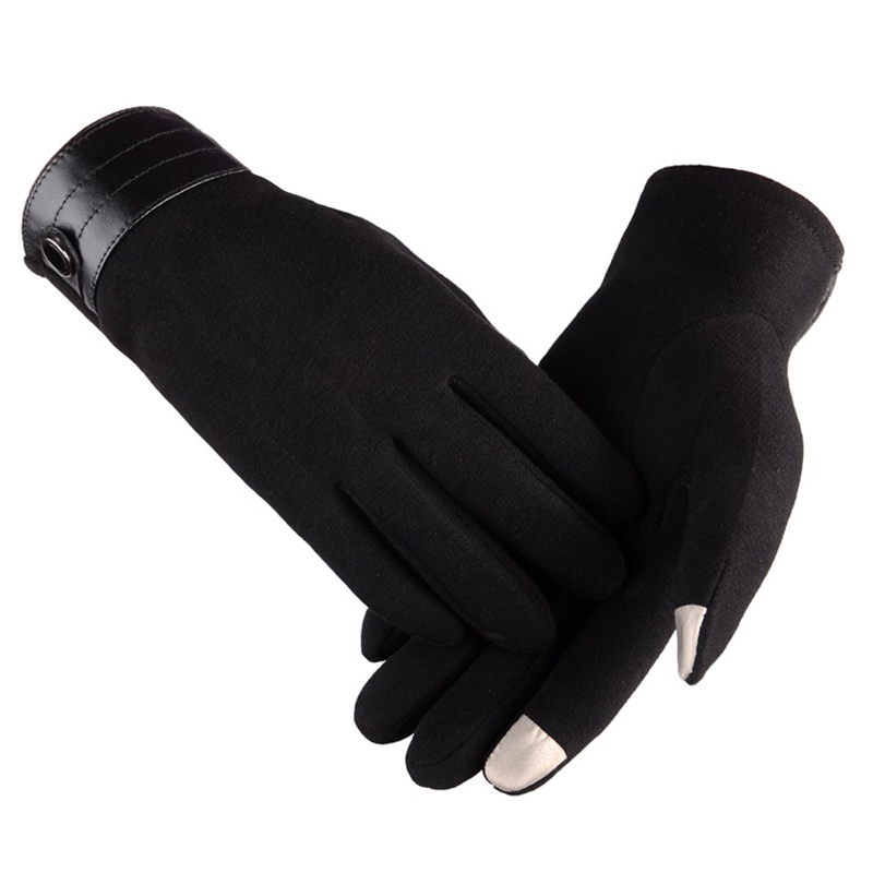 New Arrival Hot autumn Winter Mens Full Finger Smartphone Cashmere Mittens guantes invierno hombre male ski Gloves for Driving