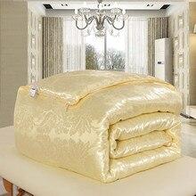 Высокое качество 100% натуральный/шелк тутового кашне для Зима/лето King queen ПОЛНЫЙ Twin размеры одеяло/Стёганое одеяло edredom наполнитель