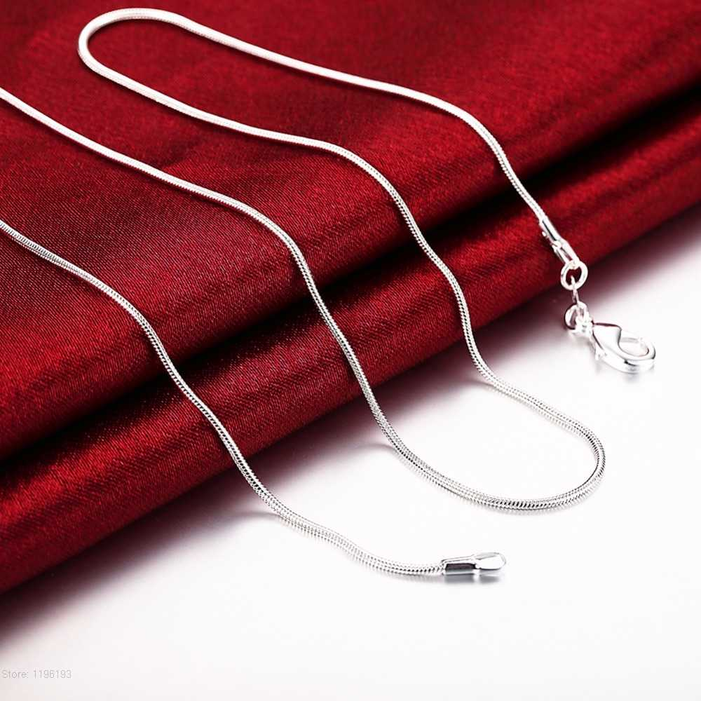 10pcs/lot Promotion! wholesale silver plated necklace, silver fashion jewelry Snake Chain 1mm Necklace 16 18 20 22 24 INCHES
