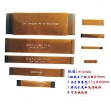 1 шт. 20 22 30 40 50 60pin FPC тест гибкий плоский кабель 0,5 мм Шаг lcd LVDS ЖК-экран удлинитель с Goldfinger Тестовый Кабель