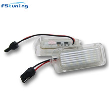 FSTUNING White Canbus T10 LED Number License Plate Light Lamp for Ford Focus 5D Fiesta Mondeo LED license plate light 2pcs 12v 18 led car license plate light white number plate lamps light smd for ford fusion for mondeo mk2 for fiesta mk5