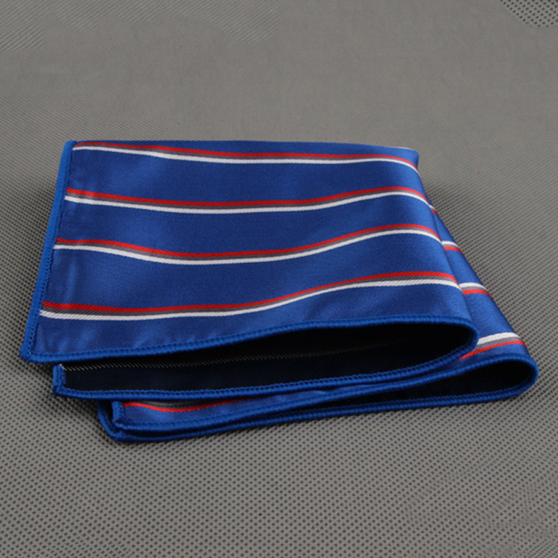 Mantieqingway Fomal Wear Business Suit Handkerchief Men Pocket Square Hankies For Wedding Fashion Casual Striped Handkerchiefs