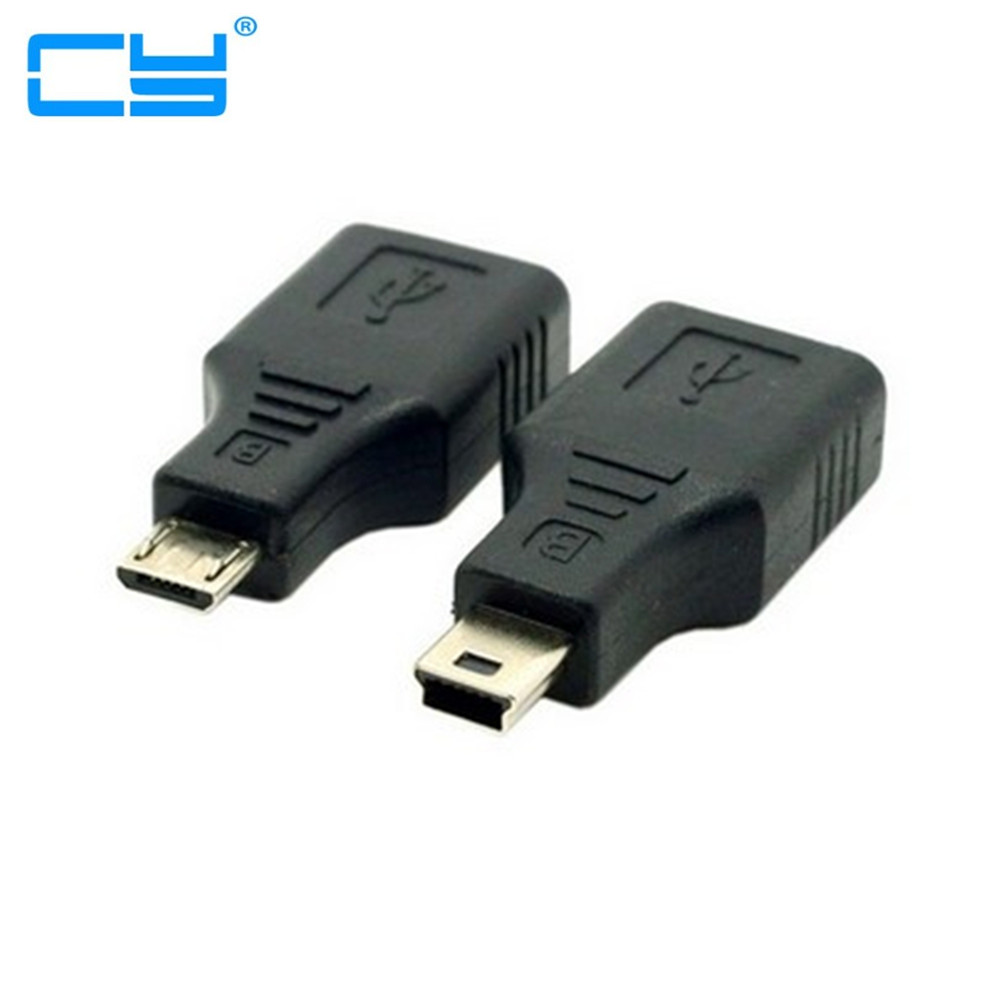 2pcs Micro & Mini USB To USB Female OTG Host Adapter For Cell Phone Tablet Connected Flash Disk Mouse