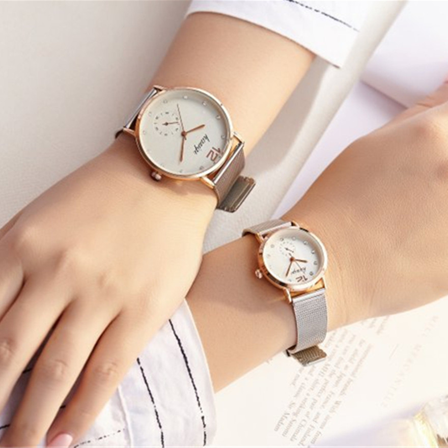 Top Brand  Casual Relogio Couples Watches Luxury  Ladies Stainless Steel High Huality Wristwatch Female Quartz Watch Reloj