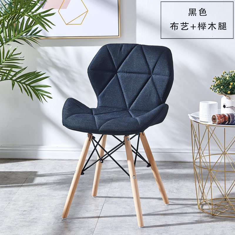 Nordic Net Red Bedroom Desk Chair Backrest Stool Reception Computer Simple Lazy People Chair - Color: 19