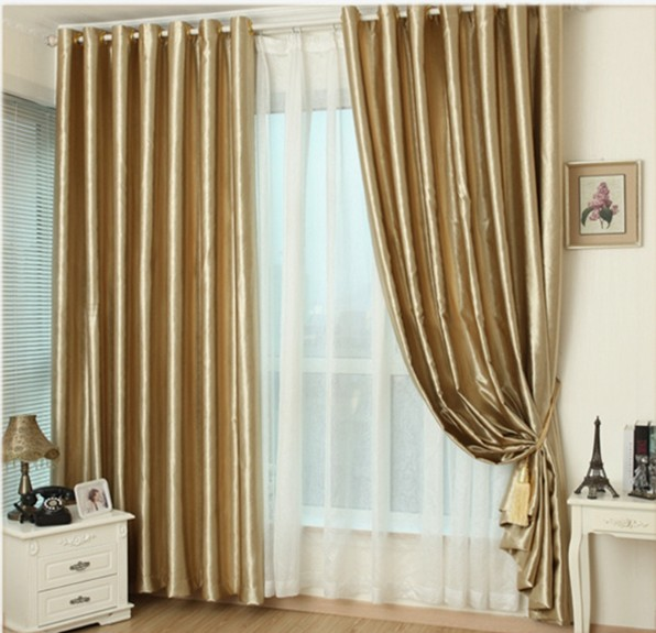 Aliexpress.com : Buy Hook Eyelet Gold Curtains Window