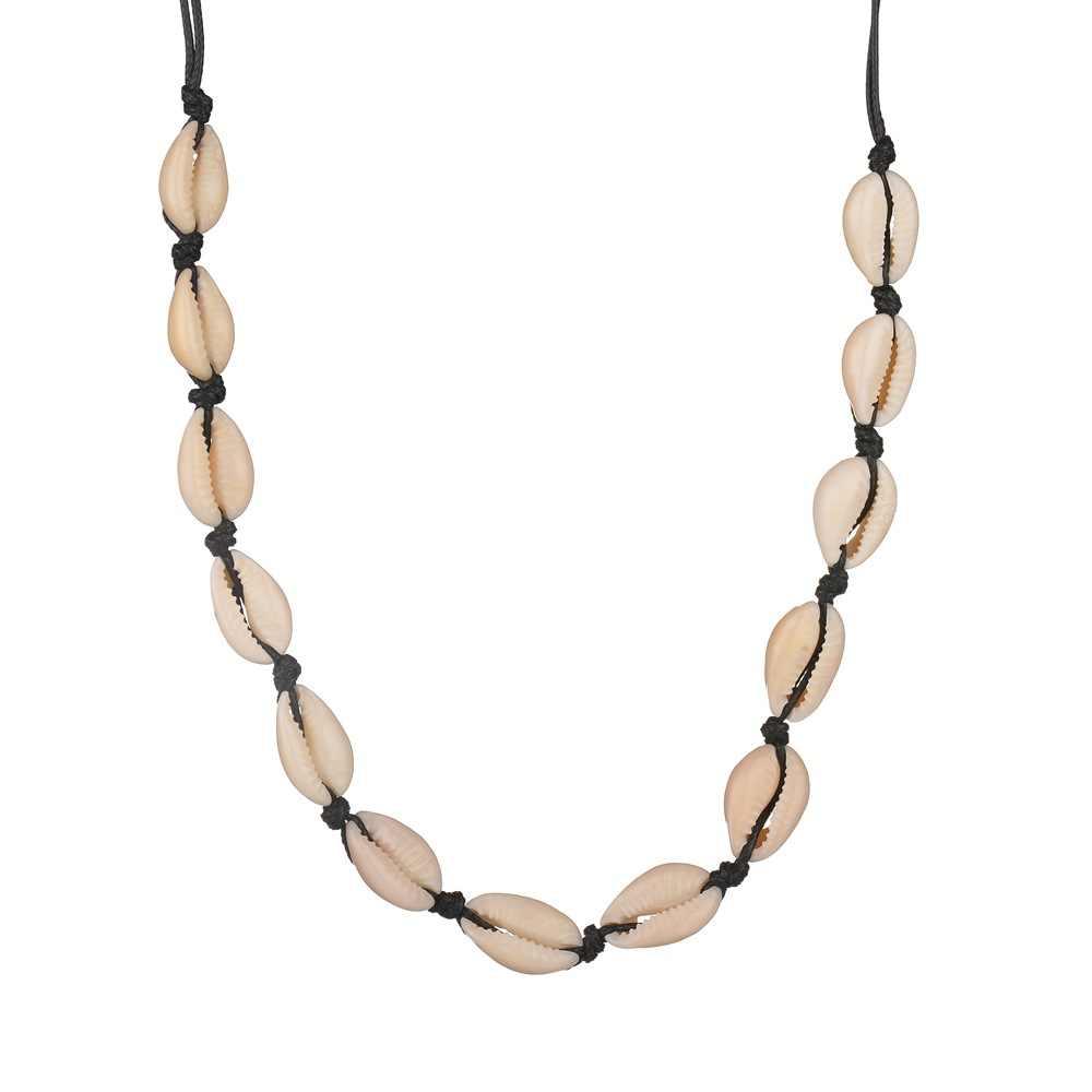 X136 naturel été plage Shell collier ras du cou Simple bohème coquillage collier bijoux pour femmes filles cadeau d'anniversaire nouveau