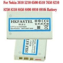 Фотография HKFASTEL New BLB-2 BLB2 Li-ion Mobile Phone Battery For Nokia 3610 5210 6500 6510 7650 8210 8250 8310 8850 8890 8910 8910i