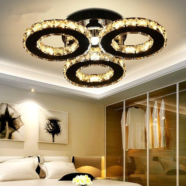 Lampadario con 3 luci led di cristallo incasso lampadari for Lampadari moderni per ingresso