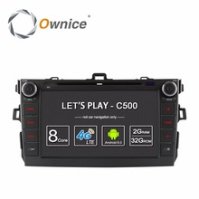 "Ownice C500 8 ""Android 6.0 Quad Core 2G RAM Coche Reproductor de DVD con 4G Red LTE para Toyota Corolla 2007-2011 Bt GPS Navi Radio"