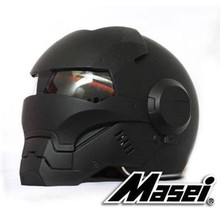 Masei 610 Full Face Motorcycle Riding Men's Off Road Downhill DH Cross Dot Iron Man matt black