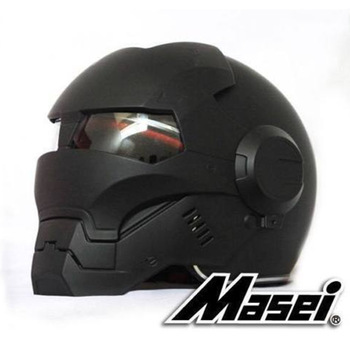 Masei 610 Full Face Motorcycle Riding Men's Off Road Downhill DH Cross Dot Iron Man matt black Helmet Capacetes Free shipping фото