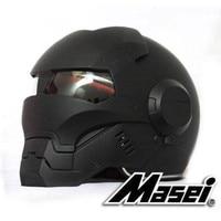 Masei 610 Full Face Motorcycle Riding Men's Off Road Downhill DH Cross Dot Iron Man matt black Helmet Capacetes Free shipping