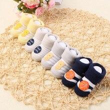 1 pair Baby Cotton Socks Toddlers Boys Girls Spring Autumn Socks Stripes Design Kids Socks