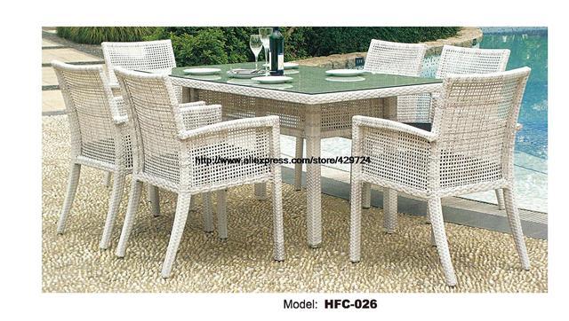 Estilo simple moderno silla del ocio ratán conjunto mesa de jardín ...