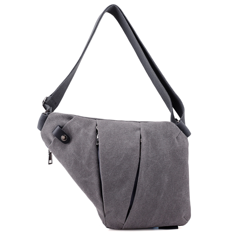 Trapezoidal Men Messenger Bags Men Quality Canvas Multipurpose Chest Pack Sling Shoulder Bags  Casual Crossbody Small Fanny Bag men canvas small sling chest pack handbag vintage shoulder crossbody bag function small men messenger bags grey 19 8 25 cm