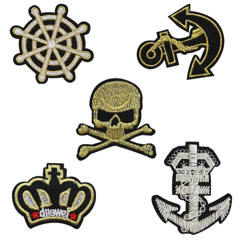 Detail Feedback Questions about 5pcs Crown Anchor Skull Military ... 74372db359ef