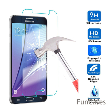For Samsung Galaxy A5 A7 A8 + 2018 A3 A5 A7 2017 Tempered Glass J1 J2 J3 J5 J7 2016 J510 Anti Shatter Screen Protector Film image