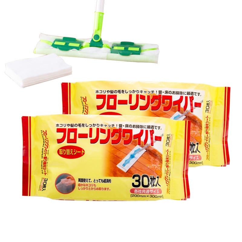 Купить со скидкой Disposable 30pcs sheets floor cleaning wipe electrostatic mop dust paper for iRobot Braava 320 380t