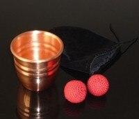 Super Copper Chop Cup Diamter 7cm Magic Tricks Cup And Balls Close Up Magic Props High