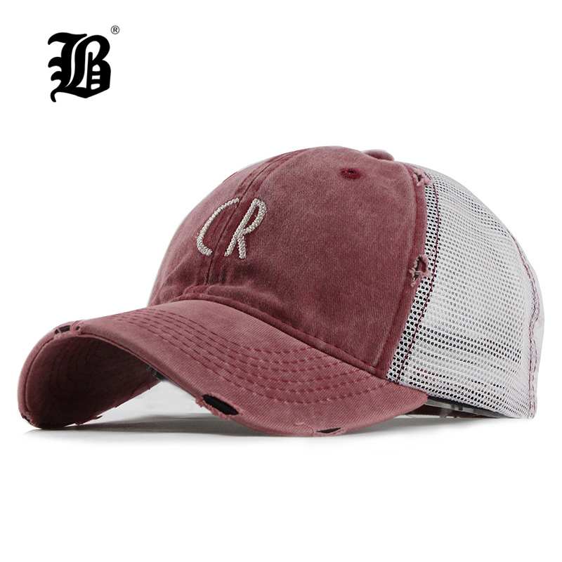[FLB] Mesh   Baseball     Cap   For Women Men'S Summer Fitted   Cap   Snapback Dad Hat For Men Bone Gorra Casquette Fashion Hat F126