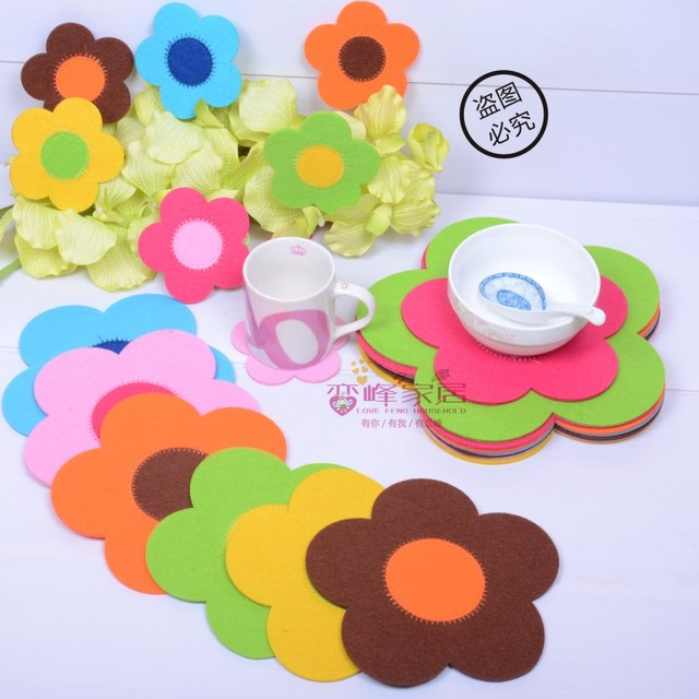 Non-woven placemat bowl pad pot holder coasters heat insulation pad table mat dining table mat disc pads fashion pad