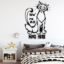 Classic mad here Wall Sticker Home Decor Decoration For Kids Rooms Pvc Wall Decals Living Room Decor adesivo de parede цена