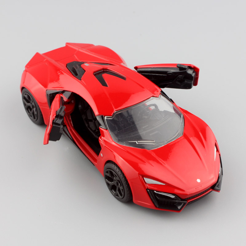 Kids Jada 1:32 Scale FAST & FURIOUS F8 Lykan HyperSport metal die cast models auto Motor super sport cars toys games Collectible