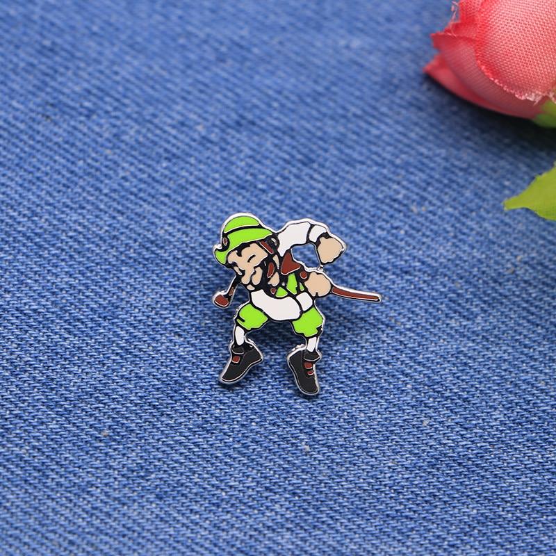 Cartoon Sport Brooches knight Eamel Pin for Girls Boys Lapel Pin Hat/bag Pins Denim Jacket Shirt Women Brooch Badge SC4284