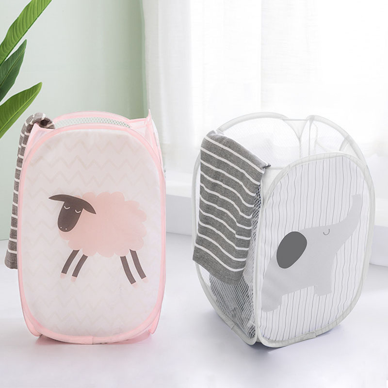 Cartoon Cute Laundry Basket Collapsible Dirty Clothes Kids Toy Sundries Storage Bags Large Capacity Bathroom Washing Organizer