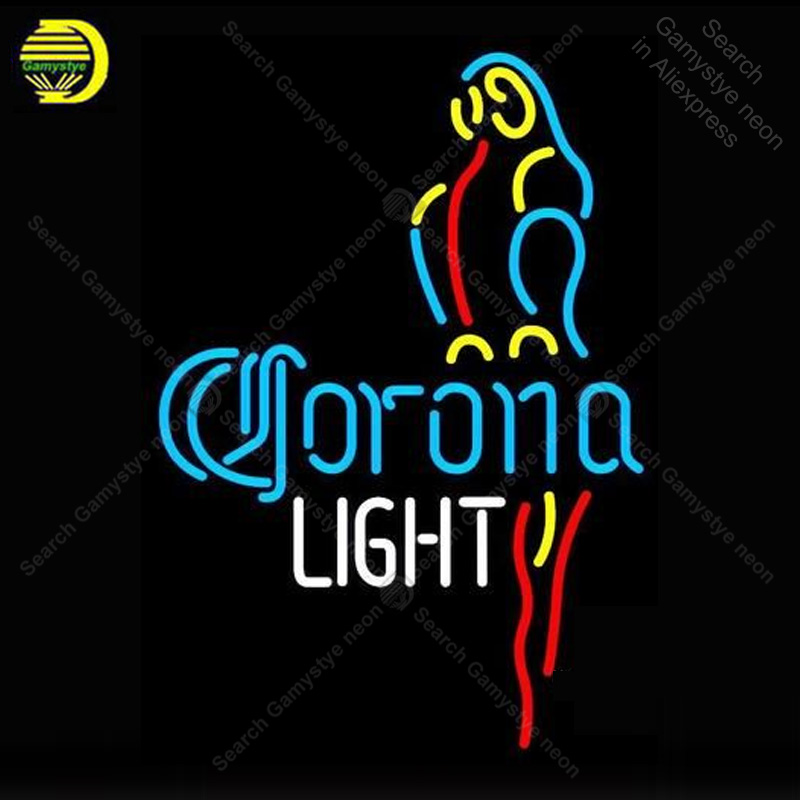 Neon Sign for Corona Light Parrot neon Light Sign illuminated Display Beer Club Sign glass Tubes Handcrafted Neon signs Fill GasNeon Sign for Corona Light Parrot neon Light Sign illuminated Display Beer Club Sign glass Tubes Handcrafted Neon signs Fill Gas