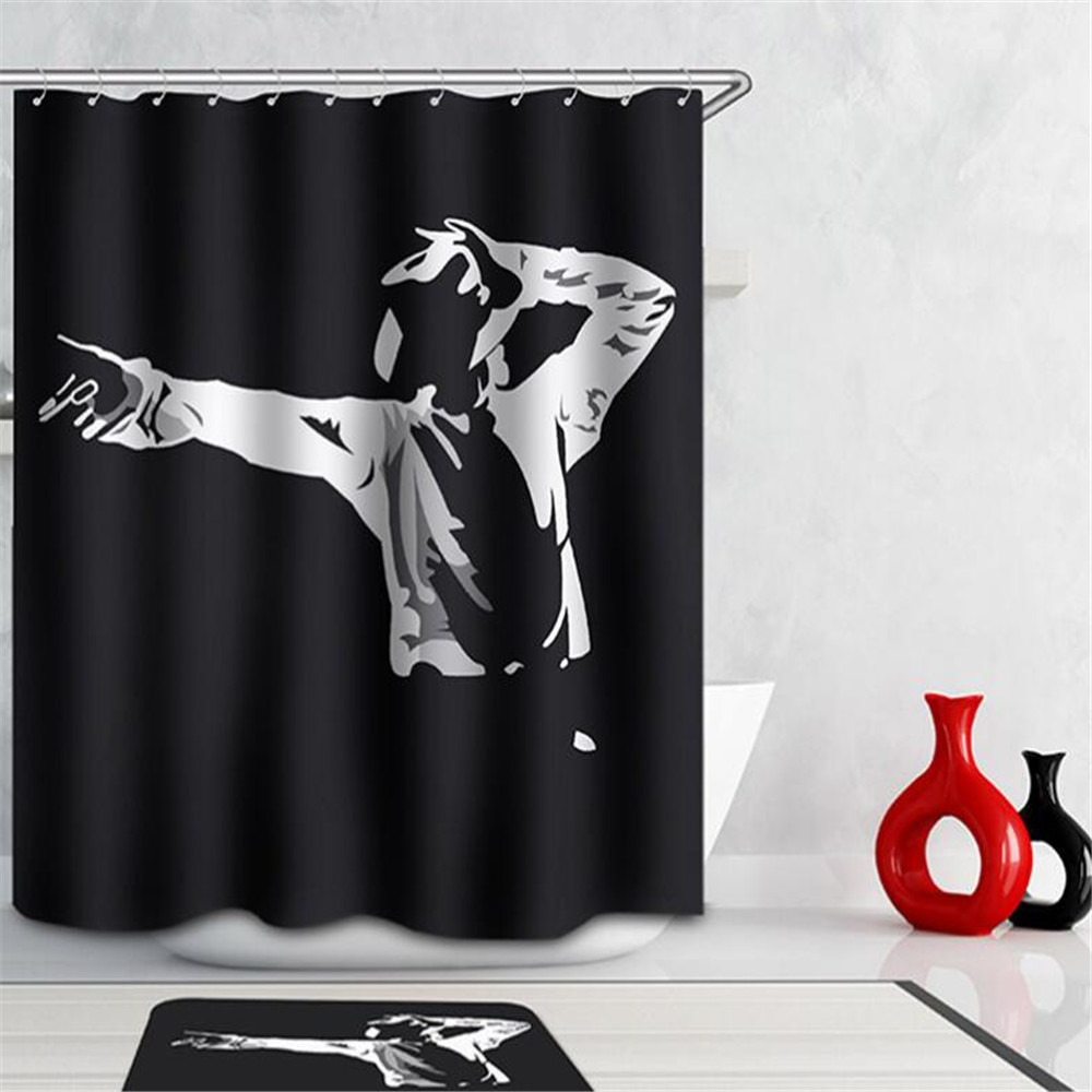 Peacock shower curtain hooks - Eco Friendly 3d Thicken Sexy Bath Curtain Polyester Peacock Shower Curtain Waterproof Home Bathroom Accessories Anime