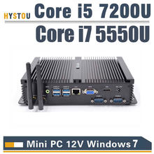 3 Year Warranty HYSTOU Core i5 7200U Fanless Mini PC windows 10 linux Desktop Industrial PC with Core i7 Windows7 mini Computer(China)