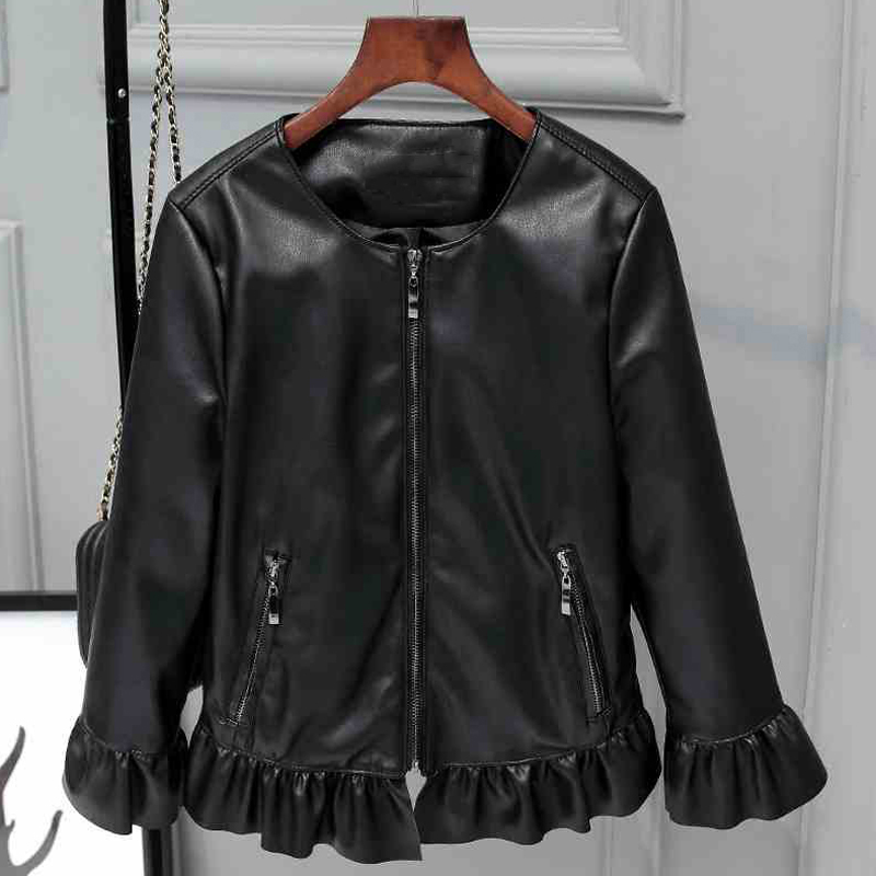 Women Faux   Leather   Jackets With Butterfly Sleeve European Appear Brand Clothing Women Faux   Leather     Suede   Jackets For Women C836