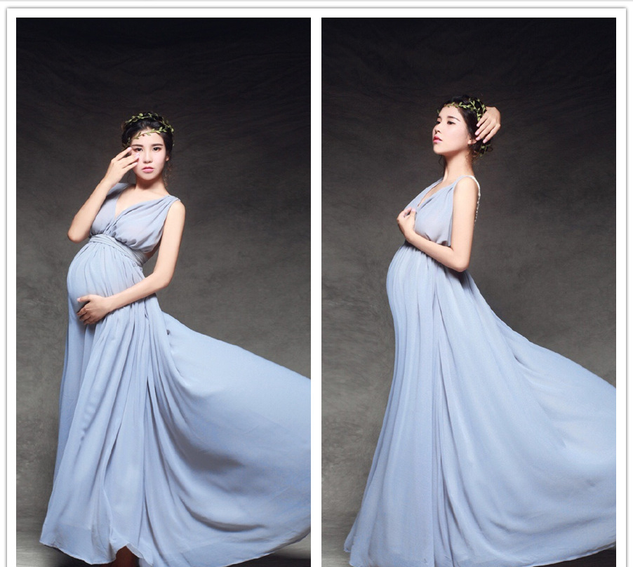 Brand Royal Style Maternity Photography Props Long Dress For Photo Shoot Clothes for Pregnant Women Fancy Pregnancy Q86  rq elegant maternity dress photography props long dress pregnant women clothes fancy pregnancy photo props shoot q83