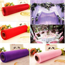 10pcs 5yards*48cm Tulle Roll Crystal Fabric Organza Spool Wedding Decoration Birthday Party Baby Shower Total 50yards