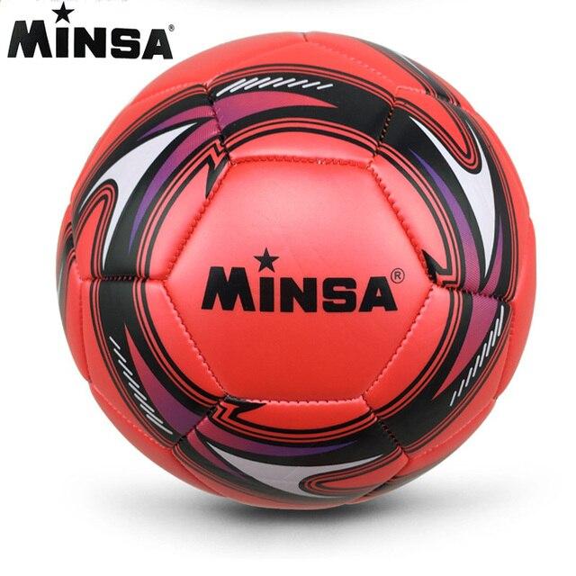 New Brand 2017 MINSA Official Standard Soccer Ball Size 5 Training Futebol Football Ball futbol Match Voetbal Bal