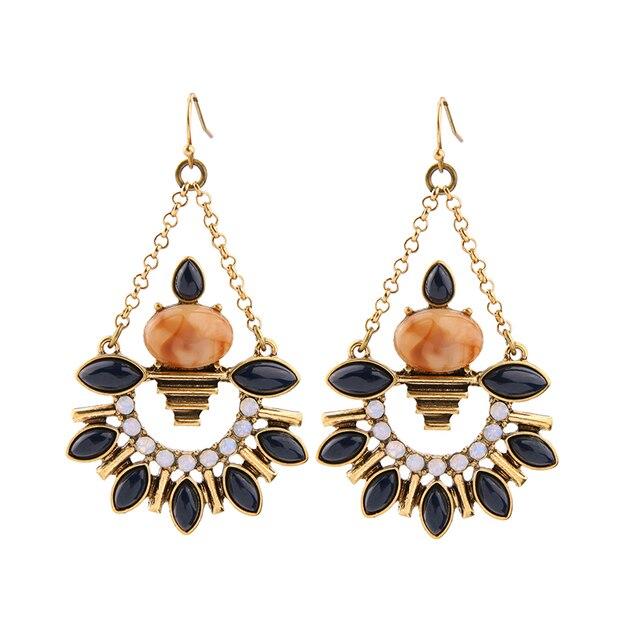 grohandel frauen mode kronleuchter ohrringe online shopping indien vintage harz haken ohrringe - Kronleuchter In Indien