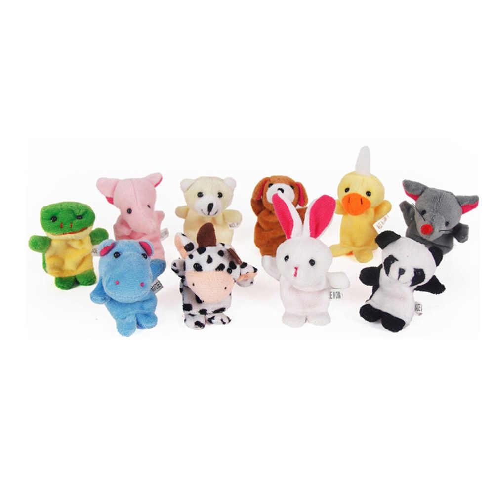 かわいい漫画の生物動物のフィンガーパペットぬいぐるみ子供ベビー好意人形ストーリー小道具少年少女フィンガーパペット