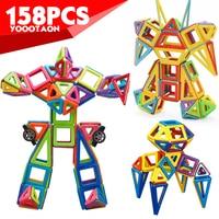 Mini 158pcs Lot Magnetic Models Building Blocks Construction Toys DIY 3D Magnetic Designer Learning Educational Bricks