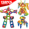 Mini 158pcs Lot Magnetic Models Building Blocks Construction Toys DIY 3D Magnetic Designer Learning Educational Bricks