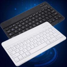 Universal Mini Bluetooth Wireless Slim Keyboard for iPad Galaxy Tabs IOS&Android Windows Tablets/Desktop Hot Selling