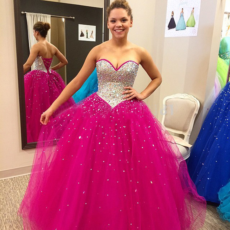 Popular Quinceanera Dresses Color Fuchsia-Buy Cheap Quinceanera ...