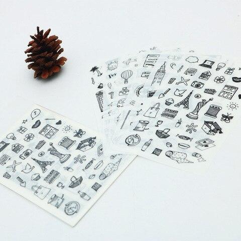 em preto branco adesivos decorativos mobile