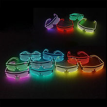 Novelty LED Glasses Light Up Shades Flashing Luminous Rave Night Christmas Activities Wedding Birthday Party Decoration 10Colors(China)