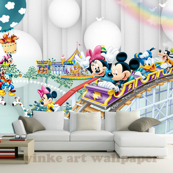 3d Cartoon  wallpaper mural children  room non woven 3d wallpaper  for kids room baby bedroom' wall  3D  wall sticker wallpaper
