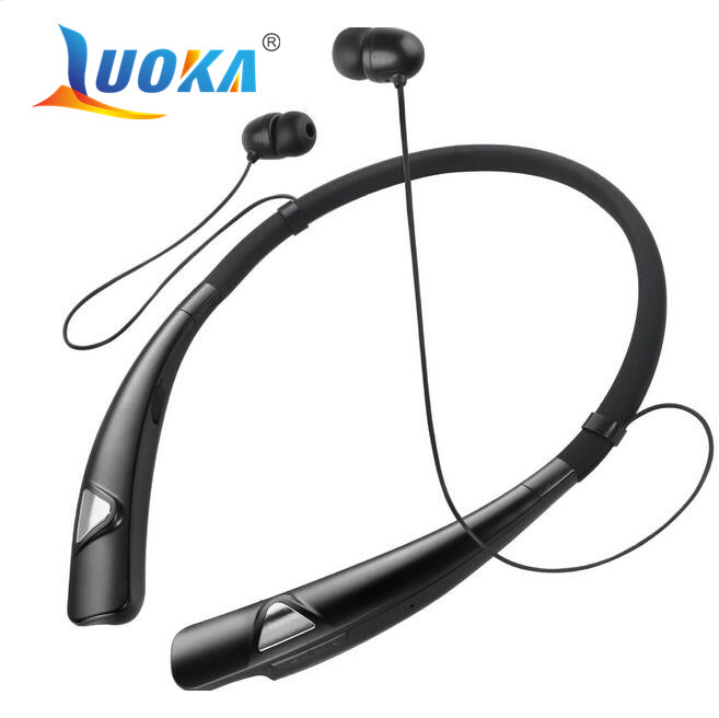 Original LUOKA 980 Bluetooth Headset for iPhone Samsung LG Wireless Mobile Earphone Bluetooth Headphones for Mobile Phone remax 2 in1 mini bluetooth 4 0 headphones usb car charger dock wireless car headset bluetooth earphone for iphone 7 6s android