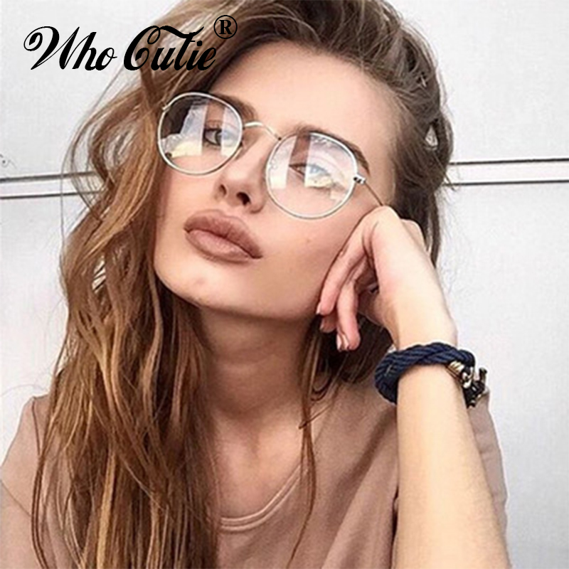 Who Cutie 2017 Round Fake Circle Glasses 3447 Clear
