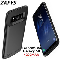4200mAh fast Charging Power Bank Cover For Samsung Galaxy S8 Battery Case For Samsung S8 Battery Charging Cover Case